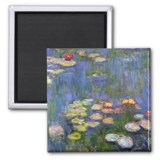Water Lilies 10 2 Inch Square Magnet