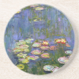 Water Lilies 10 Sandstone Coaster
