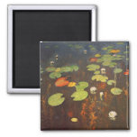 Water Lilies 1895 2 Inch Square Magnet