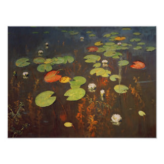 Water Lilies 1895 Poster