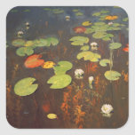 Water Lilies 1895 Square Sticker