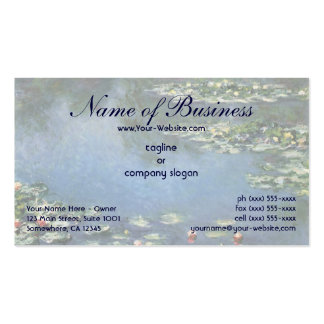 Water Lilies (1906) by Claude Monet Double-Sided Standard Business Cards (Pack Of 100)