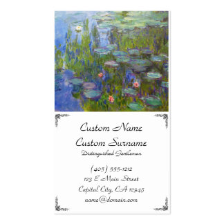 Water Lilies, 1915 Claude Monet cool, old, master, Double-Sided Standard Business Cards (Pack Of 100)