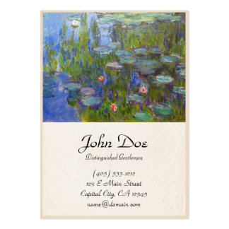 Water Lilies, 1915 Claude Monet cool, old, master, Large Business Cards (Pack Of 100)