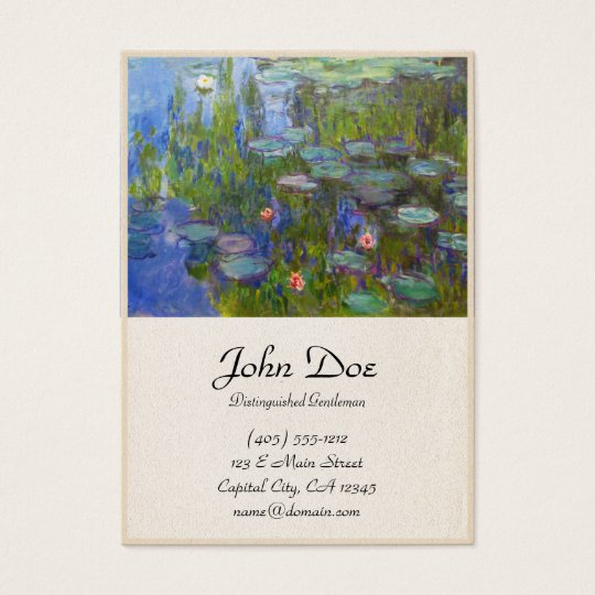 Water Lilies, 1915 Claude Monet cool, old, master, Business Card