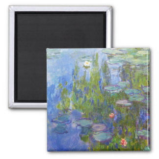 Water Lilies, 1915 Claude Monet cool, old, master, Fridge Magnet