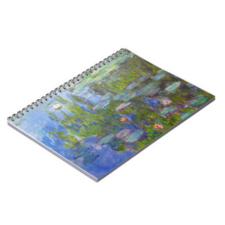 Water Lilies, 1915 Claude Monet cool, old, master, Notebook
