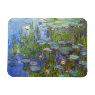 Water Lilies, 1915 Claude Monet cool, old, master, Rectangular Magnets