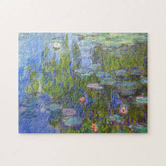 Water Lilies, 1915 Claude Monet cool, old, master, Jigsaw Puzzle