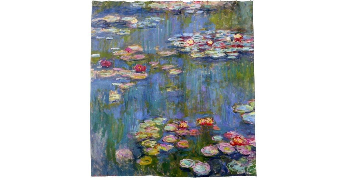 Water Lilies 1916 by Claude Monet Shower Curtain   Zazzle.com
