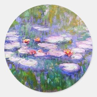 Water Lilies 1919 Claude Monet Fine Art Classic Round Sticker