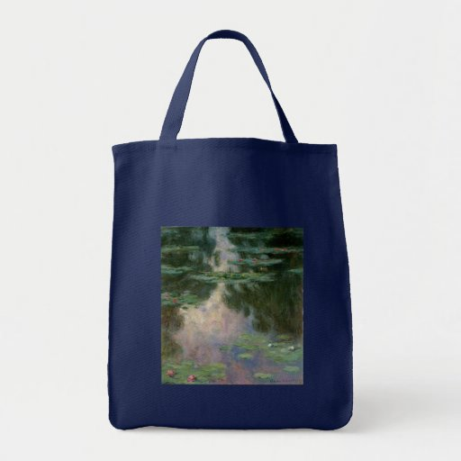 WATER LILIES 1 CANVAS BAG