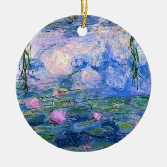 Water Lilies 1 Ceramic Ornament