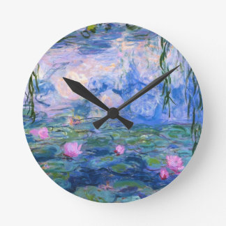 Water Lilies 1 Round Clock