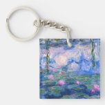 Water Lilies 1 Square Acrylic Keychain