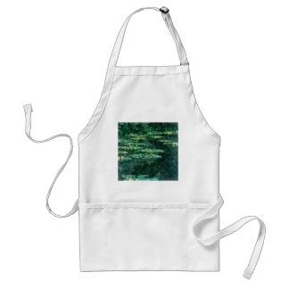 WATER LILIES 2 ADULT APRON