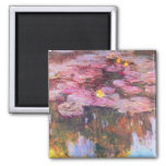 Water Lilies 3 2 Inch Square Magnet