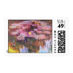 Water Lilies 3 Postage Stamps