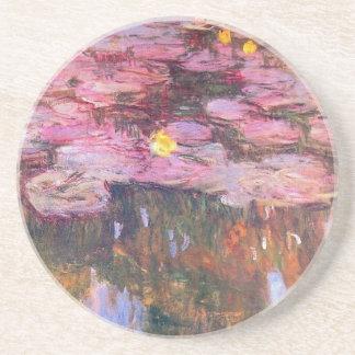 Water Lilies 3 Sandstone Coaster