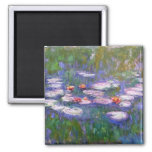 Water Lilies 8 2 Inch Square Magnet