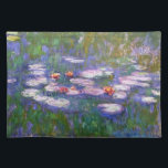 "Water Lilies 8 Placemat<br><div class=""desc"">Water Lilies is a collection of more than 200 oil paintings by French Impressionist Claude Monet (1840 to1926). The paintings depict Monet&#39;s flower garden at Giverny and were the main focus of his paintings during the last thirty years of his life. These beautiful paintings are displayed in museums throughout the...</div>"