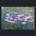 """Water Lilies 8 Placemat<br><div class=""""desc"""">Water Lilies is a collection of more than 200 oil paintings by French Impressionist Claude Monet (1840 to1926). The paintings depict Monet&#39;s flower garden at Giverny and were the main focus of his paintings during the last thirty years of his life. These beautiful paintings are displayed in museums throughout the...</div>"""
