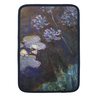 Water Lilies and Agapanthus - Claude Monet iPad Sleeves