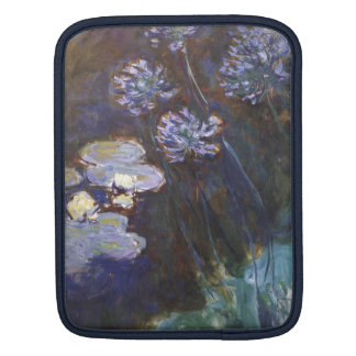 Water Lilies and Agapanthus - Claude Monet iPad Sleeve