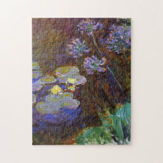 Water Lilies and Agapanthus Monet Fine Art Jigsaw Puzzle