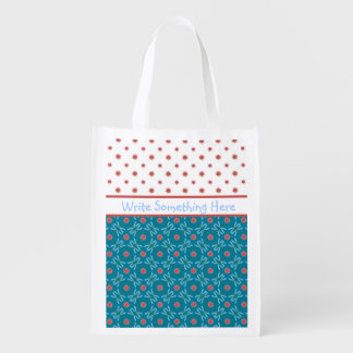 Water Lilies and Dragonflies, Custom Shopping Bag