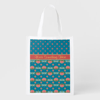 Water Lilies and Dragonflies Custom Shopping Bag