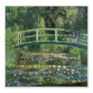 Water Lilies and Japanese Bridge 1899 Posters