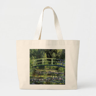Water Lilies and Japanese Bridge Tote Bags