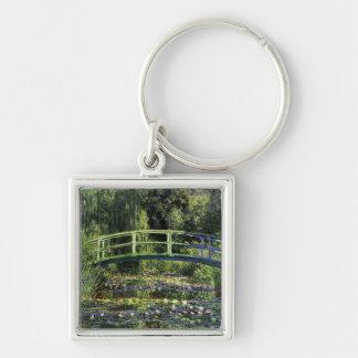 Water Lilies and Japanese Bridge Keychain