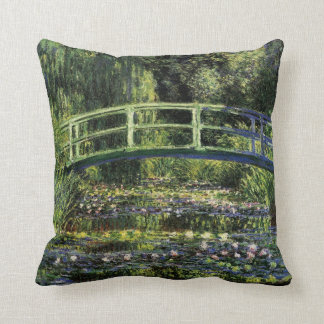 Water Lilies and Japanese Bridge Pillow