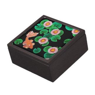 Water Lilies and Koi Fish Box