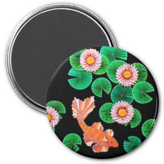 Water Lilies and Koi Fish Magnet