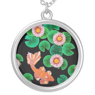 Water Lilies and Koi Fish Pendant