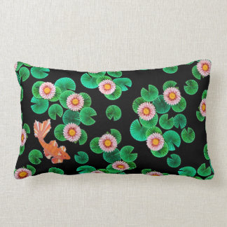 Water Lilies and Koi Fish Pillow