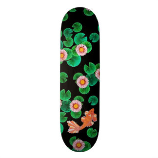 Water Lilies and Koi Fish Skate Board
