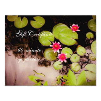 Water lilies and koi pond 4.25x5.5 paper invitation card
