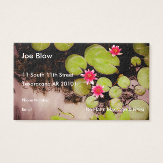 Water lilies and koi pond business card