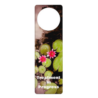 Water lilies and koi pond door hanger