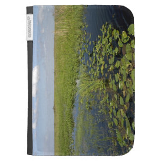 Water lilies and sawgrass in Florida everglades 2 Kindle Keyboard Case