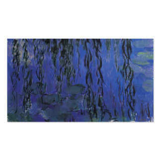 Water Lilies and Weeping Willow Branches -  Monet Double-Sided Standard Business Cards (Pack Of 100)