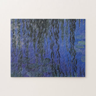 Water Lilies and Weeping Willow Branches -  Monet Jigsaw Puzzle