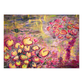 water lilies blooming large business cards (Pack of 100)