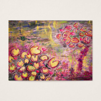 water lilies blooming business card