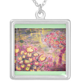 water lilies blooming jewelry