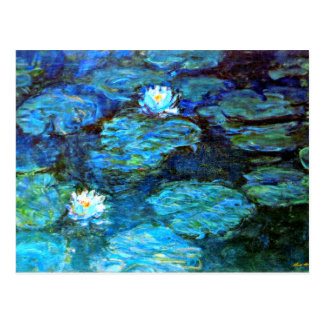 Water Lilies (blue) by Claude Monet Postcard